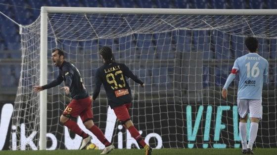 Pandev (Genoa) segna il gol contro la sua ex squadra (Lazio)