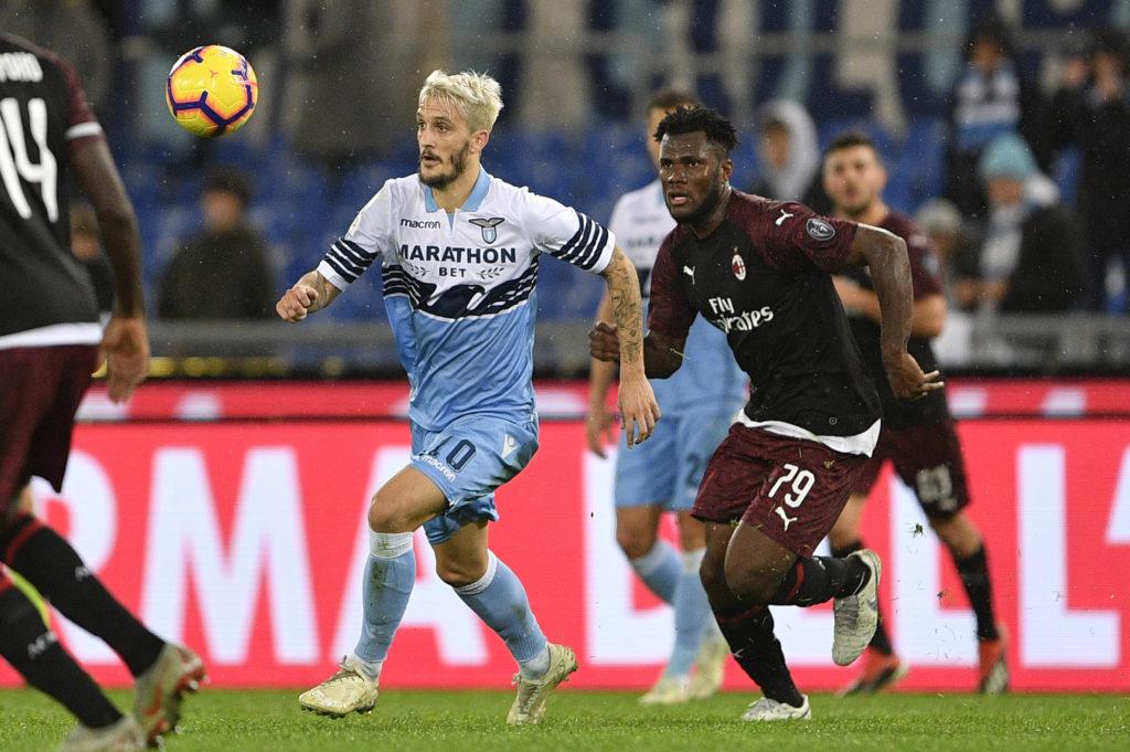 Milan, Kessie contro Luis Alberto in Lazio - Milan 2018