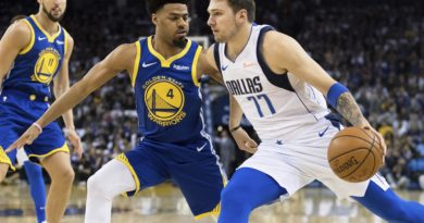 Luka Doncic contro i Warriors