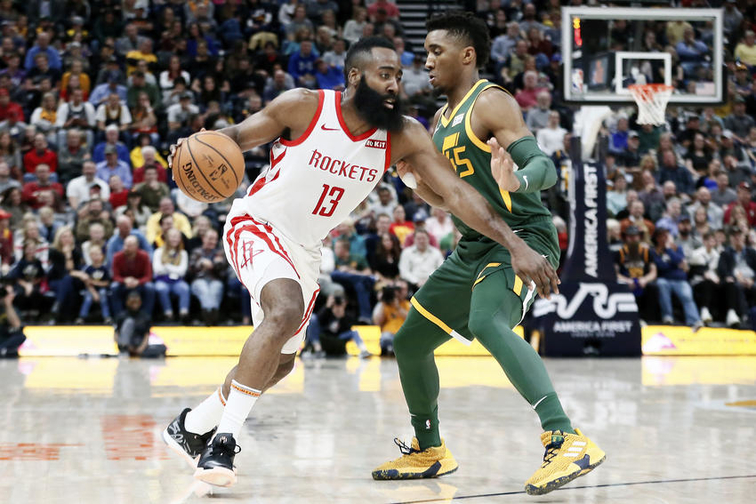 James Harden e Donovan Mitchell