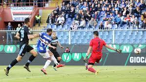 23° centro in campionato per Fabio Quagliarella che realizza il goal dell'1-2 al Ferraris.