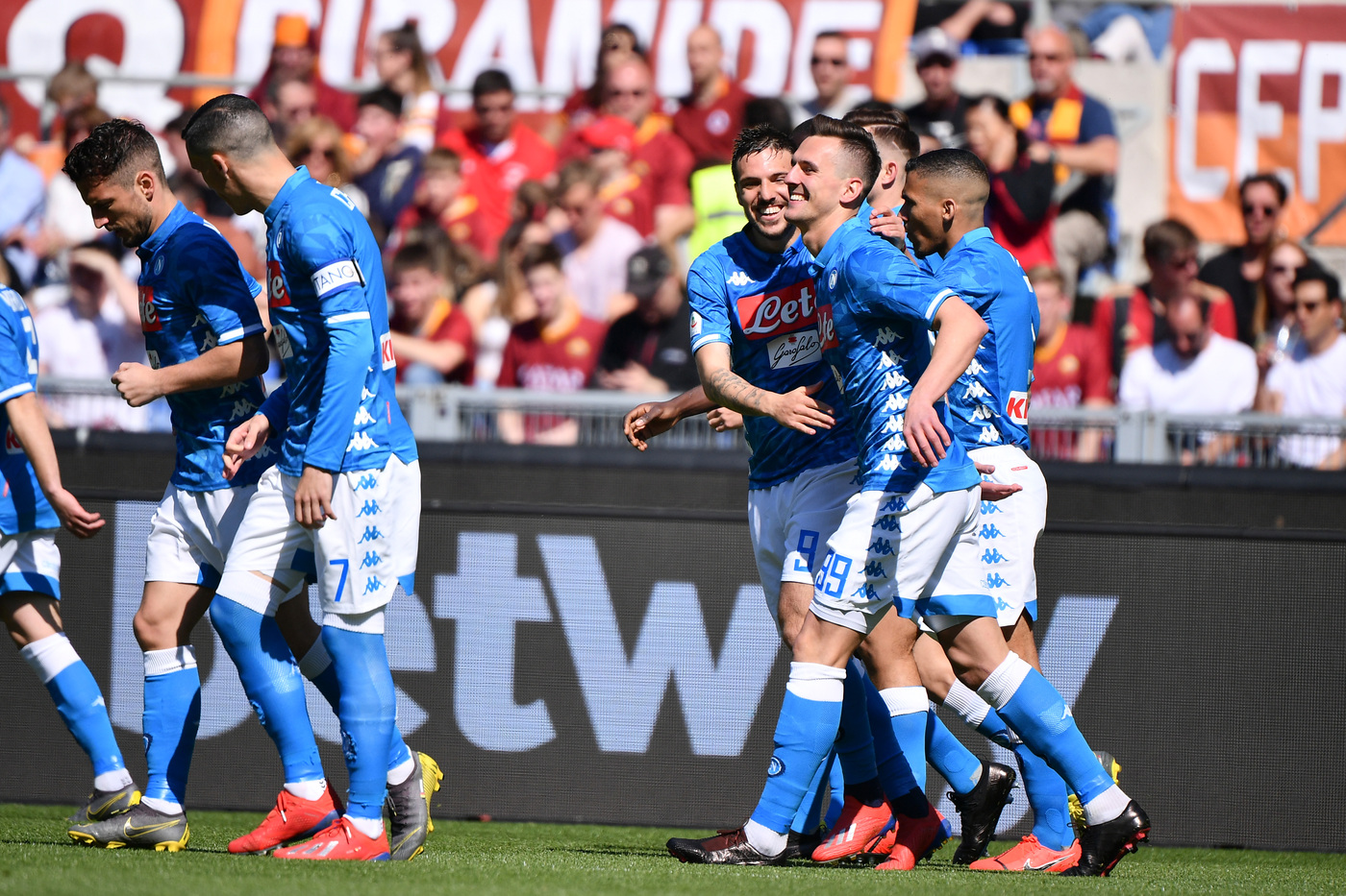 Roma Napoli 1-4 Goal Milik