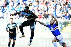 Caicedo incontenibile realizza di testa la rete del 2-0 per la Lazio.
