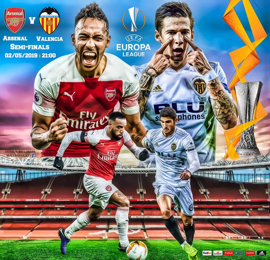 Arsenal-Valencia, semi finale di andata di EL, in programma questa sera alle 21.