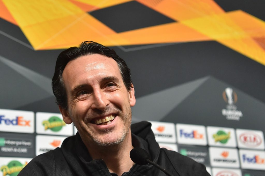 Unai Emery in conferenza stampa.