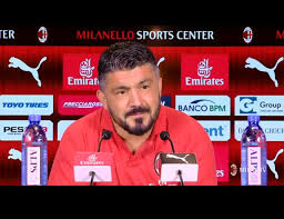 Gattuso in conferenza stampa prima della partita.