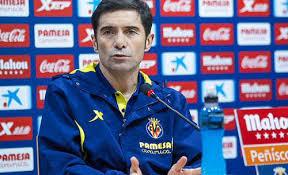 Il tecnico del Valencia Marcelino in conferenza stampa pre-partita, prima della gara dell'Emirates Stadium.