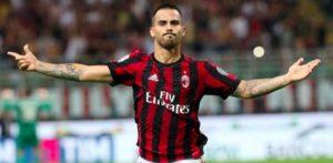 Suso col suo mancino sblocca la partita a San Siro al 37° minuto di gioco ed esulta per il goal liberatorio.