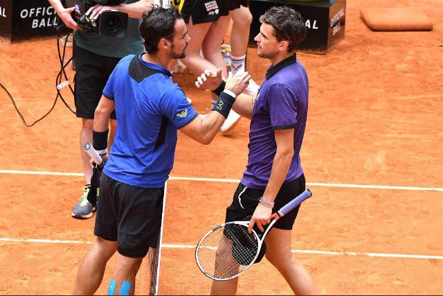 ATP Madrid: Thiem è troppo forte, eliminato Fognini