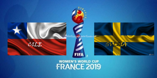 Cile-Svezia, partita inaugurale del gruppo F della FWWC di Francia 2019.