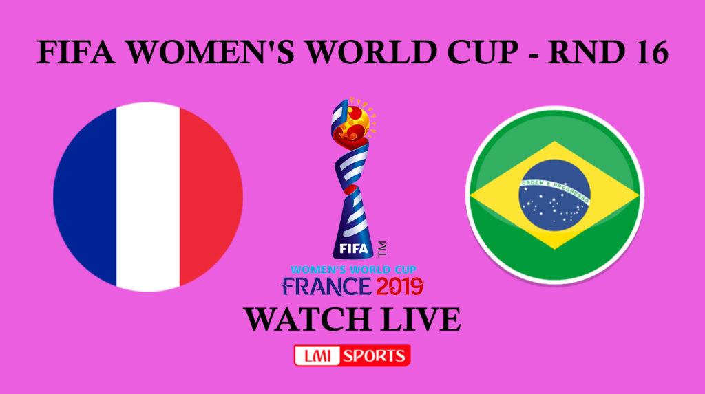 Francia-Brasile, ottavo di finale della FWWC di Francia 2019.