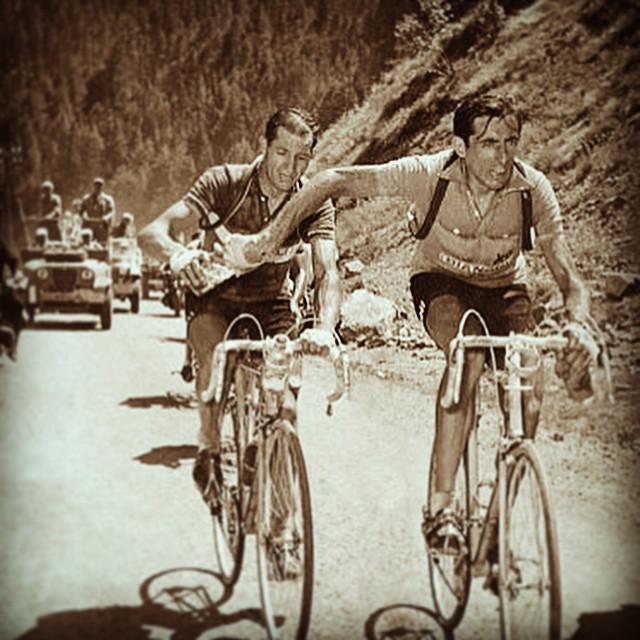 Gino Bartali e lo scambio con Fausto Coppi