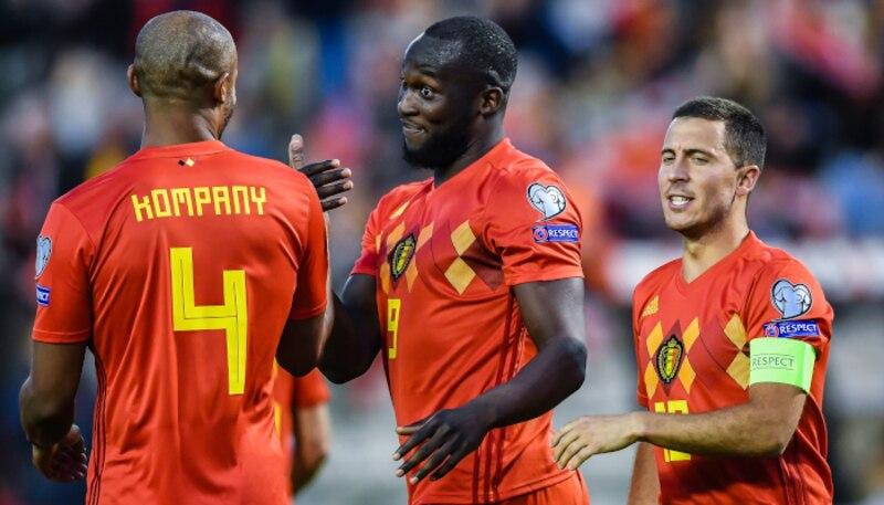 Lukaku ha trascinato il Belgio al successo con una splendida doppietta.