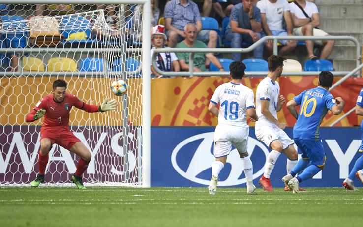 Buletsa batte Plizzari per l'1-0 Ucraina (Semi finali dei Mondiali Under20 di Polonia 2019).