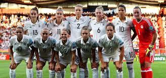 Le Tedesche prima della gara contro il Sudafrica (Gruppo B).