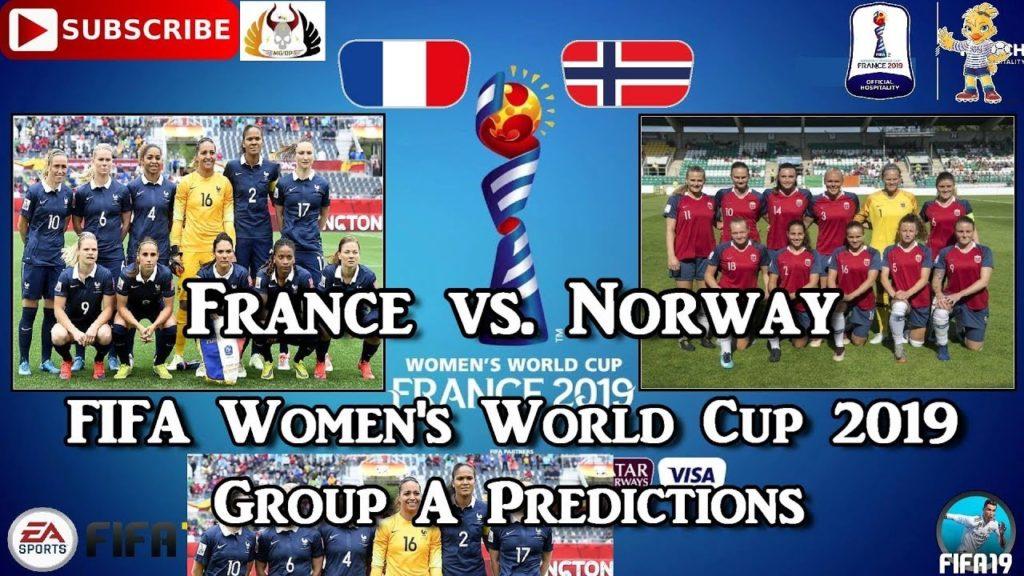 Francia-Norvegia, 2a giornata del gruppo A della FWWC.