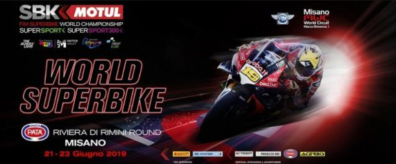 SBK Misano 2019 in tv