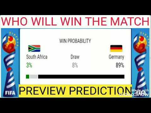L'esito probabile della gara secondo un sondaggio effettuato in rete per la gara Sudafrica-Germania del Mondiale di calcio femminile.