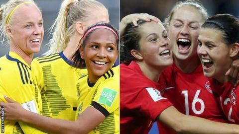 Svezia-Canada, ottavo di finale dei Mondiali femminili di Francia 2019.