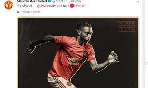 L'annuncio dell'arrivo di Wan-Bissaka al Manchester United, sul profilo twitter ufficiale dei Red Devils