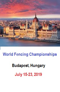 A Budapest, capitale dell'Ungheria, da oggi a martedì prossimo 23 luglio, sono in programma i Mondiali 2019 di scherma.