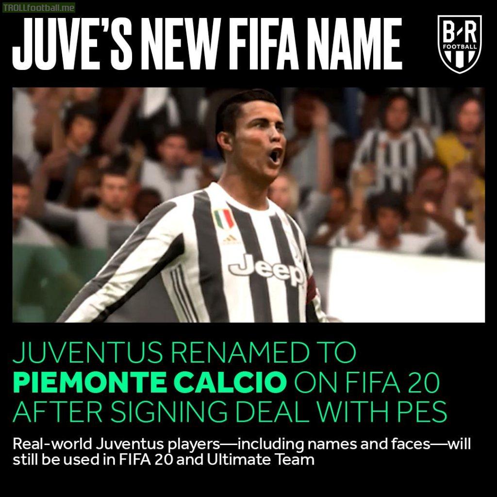 Piemonte Calcio: ecco il nome con cui si chiamerà la Juventus su FIFA20.