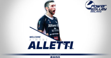 Volley Serie A1, Allianz Powervolley Milano: è Alletti il rinforzo al centro