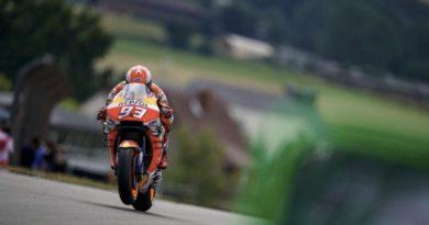 GP Sachsenring - Libere 3: Marquez il più veloce, Dovi e Rossi in Q1