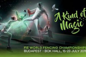La magia dei Mondiali di scherma 2019, in scena dal 15 al 23 luglio a Budapest.