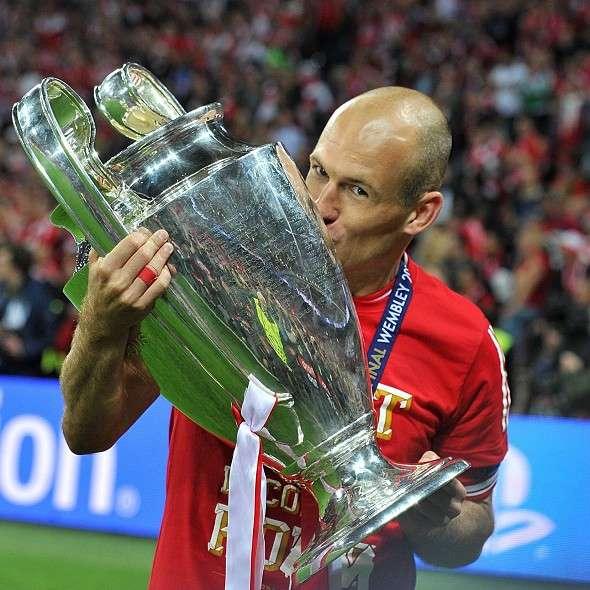 La prima Champions League per Arjen Robben è la quinta per il Bayern Monaco.