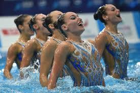 Le ragazze dell'highlight routine, seconde classificate nella disciplina