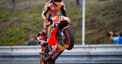 Pole spaziale di Marquez a Brno!