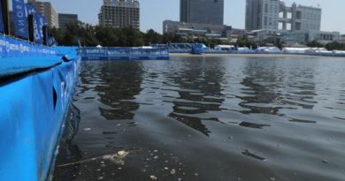 Tokio 2020, batteri nella baia