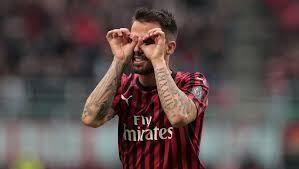 Suso con la maglia del Milan