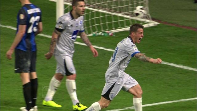 El Tanque esultante dopo la terza rete rifilata all'Inter.
