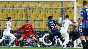 Ilicic, dopo un gran controllo su cross di Gomez riapre la partita; Atalanta-Fiorentina 1-2.