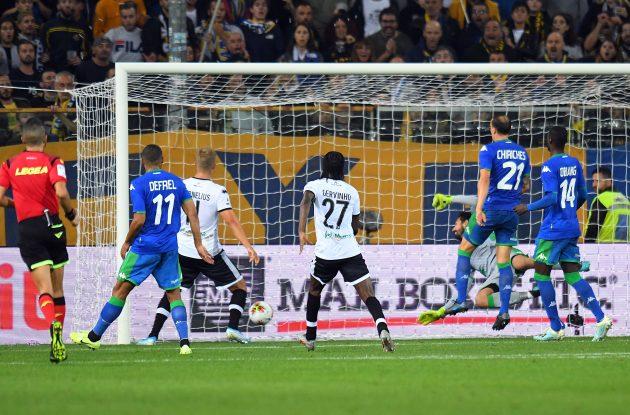 L'autorete di Bourabia che regala 3 punti fondamentali al Parma. Parma-Sassuolo 1-0.