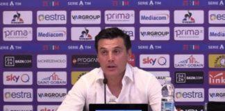 Montella intervistato prima di Atalanta-Fiorentina