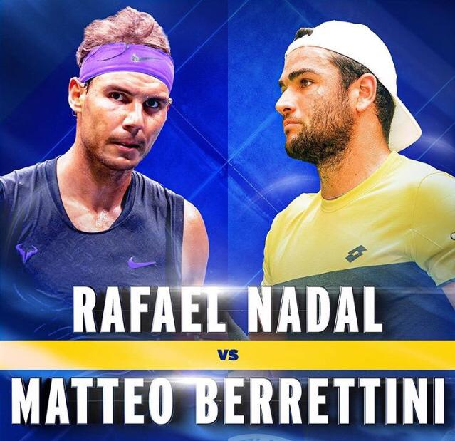 Nadal-Berrettini streaming tv