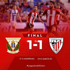 Nel sesto turno di campionato il Leganes ha fermato l'Athletic Bilbao sull'1-1.