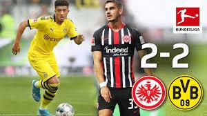 Nell'ultima giornata di campionato il Borussia si è fatto rimontare due volte dall'Eintracht, pareggiando 2-2.