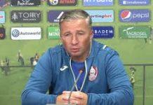 Dan Petrescu, allenatore del Cluj nel pre-partita di CLuj-Lazio