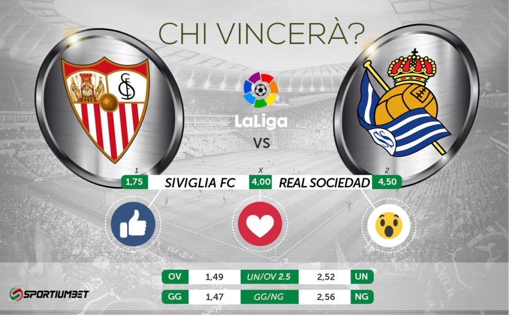 Siviglia-Real Sociedad, il pronostico.