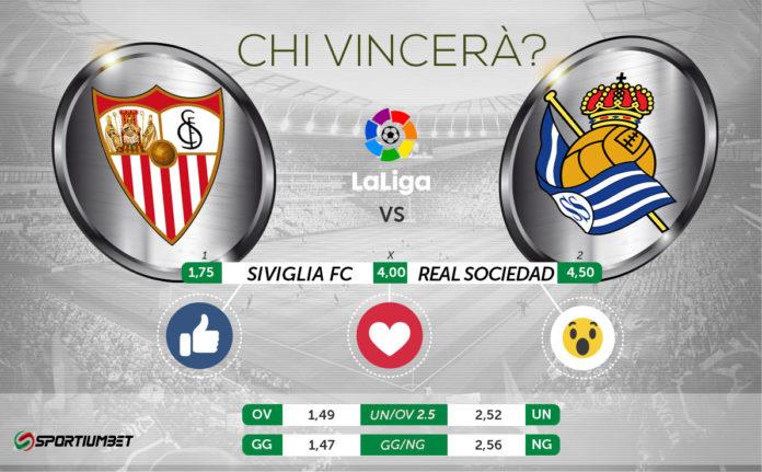 Siviglia-Real Sociedad, il pronostico