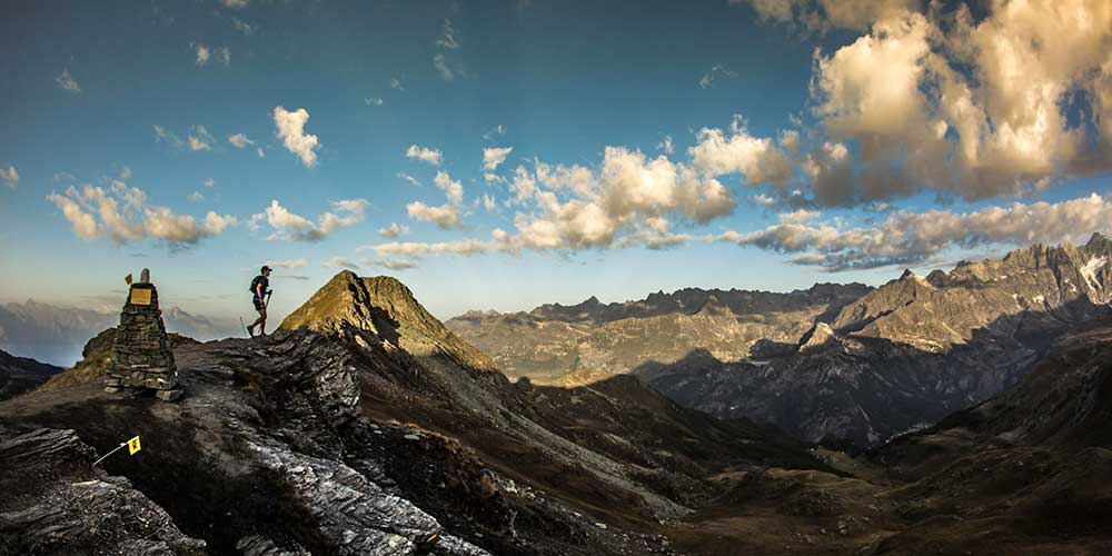 Uno dei fantastici panorami che gli atleti posso vedere durante la gara, tra le montagne della Valle d'Aosta.