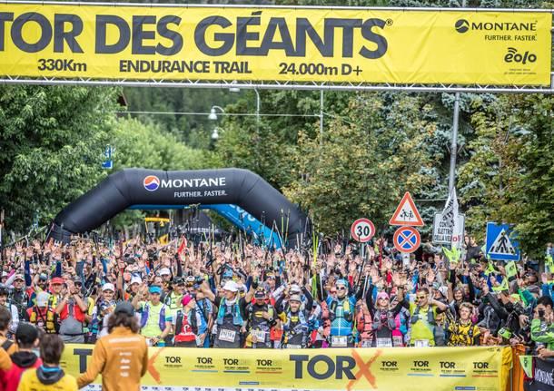 La partenza del Tor des Géants.