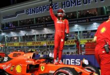 Pole Leclerc GP Singapore 2019