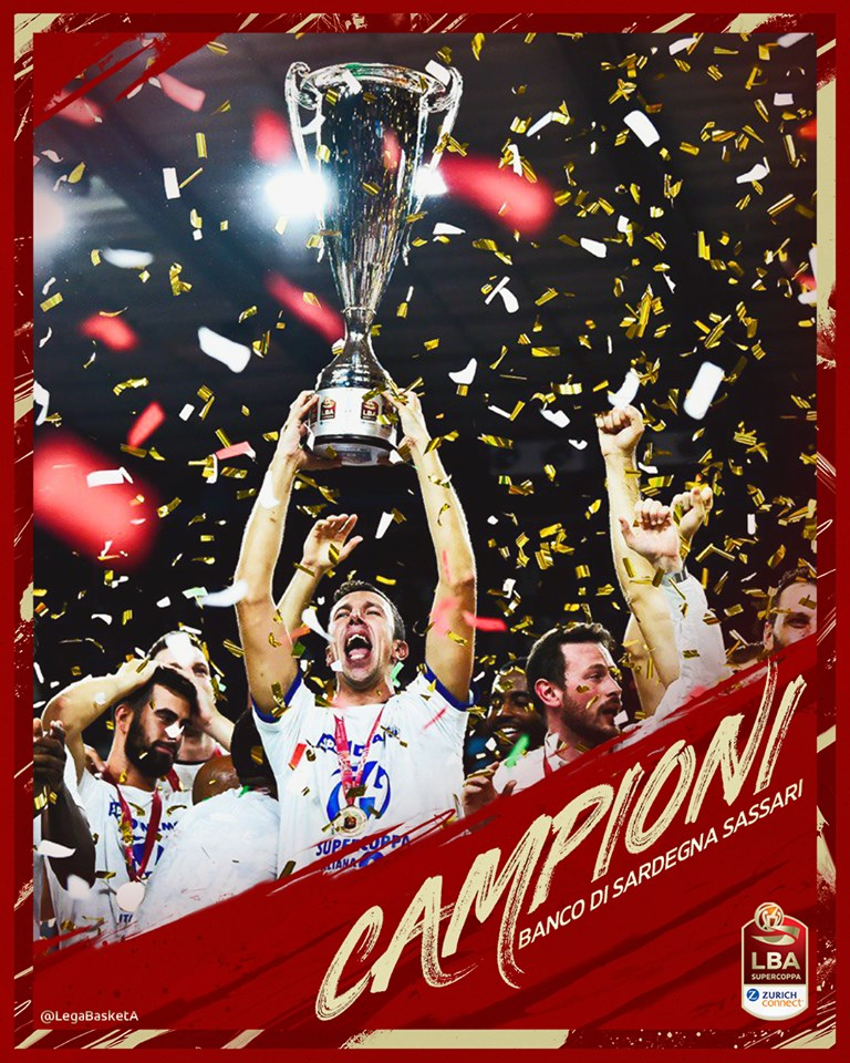 Sassari vince la Supercoppa 2019