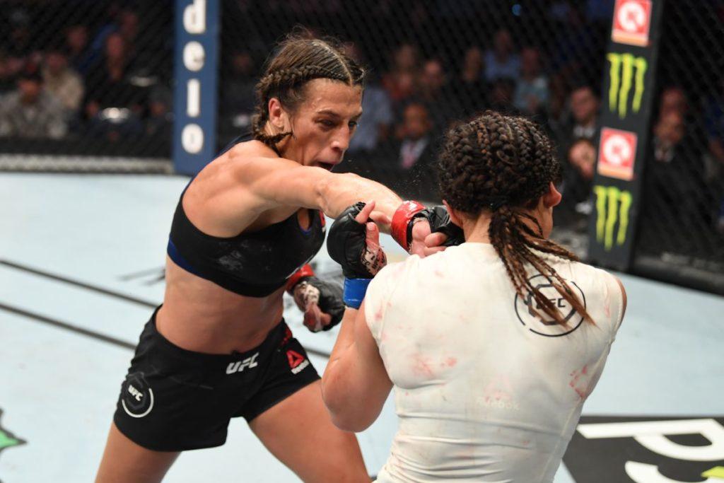 UFC Fight Night 161 - Uno scambio tra Joanna Jedrzejczyk e Michelle Waterson