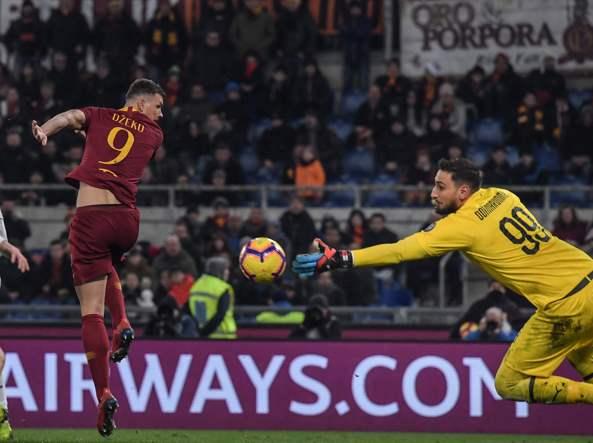 Roma Milan 1-1 con un super Donnarumma. Roma Milan probabili formazioni e curiosità